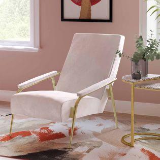 Tov-S6424  Abbey Blush Velvet Chair