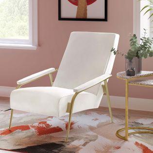 Tov-S6426  Abbey Cream Velvet Chair