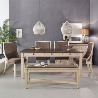 DR647  Dining Set ( 1 Table + 4 Chairs + 1 Bench)