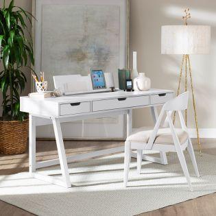 1321 Office Desk  White