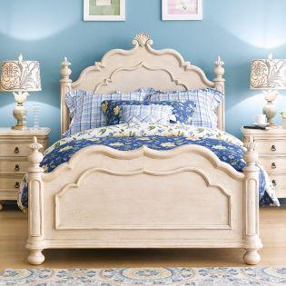 Lily-Ivory  Single Panel Bed (침대) (매트 규격: 120cmx 203cm)